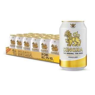 Singha Beer Can Singha Beer Can
