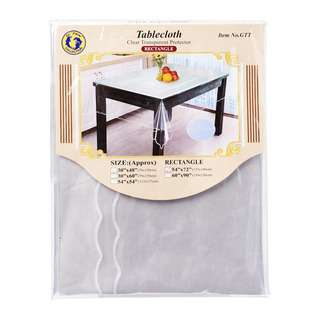 Dolphin Collection PVC Clear Transparent Tablecloth Oblong