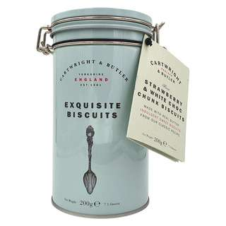 Cartwright & Butler Strawberry & White Chocolate Biscuits Tin
