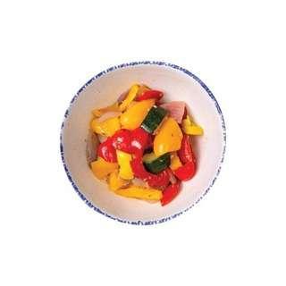 YoloFoods. Roasted Capsicum & Zucchini