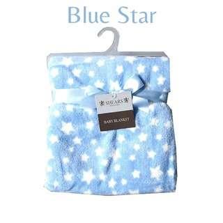 Shears Blanket Basic Baby Blanket Blue Star SCFBB