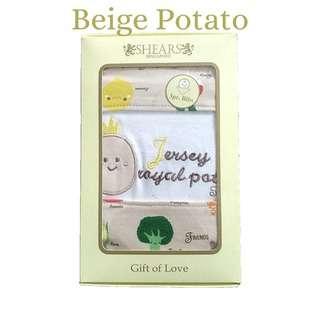 Shears Bib Exclusive Baby Bib 3 Pcs Set Yellow Potato SEBYP