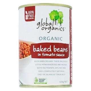 Global Organics Baked Beans in Tomato Sauce