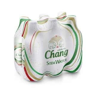 Chang Soda Water Glass Bottles x 6 bottles