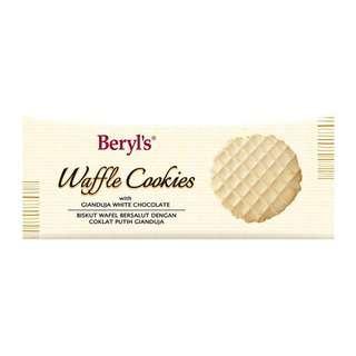 Beryl's Waffle Cookies Coated With Gianduja White Choc