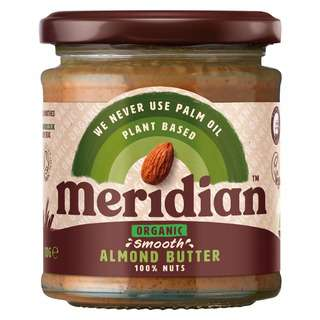 Meridian Organic Smooth Almond Butter, 170g