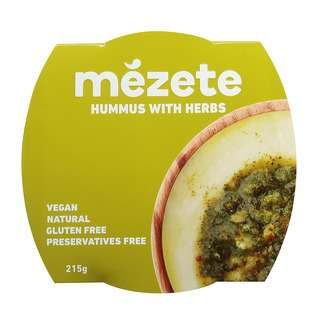 Mezete Herb Hummus Dip, 215g
