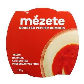 Mezete Roast Pepper Hummus Dip, 215g