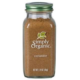 Simply Organic Coriander Seed Ground, 65g