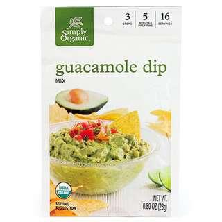 Simply Organic Guacamole Dip Mix, 23g