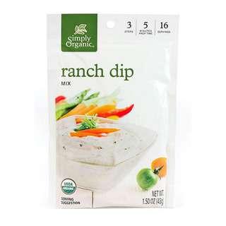 Simply Organic Ranch Dip Mix, 43g