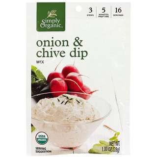 Simply Organic Onion & Chive Dip, 28g
