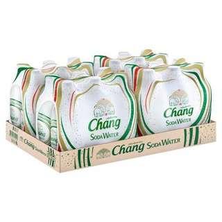 Chang Soda Water Glass Bottles x 24 bottles