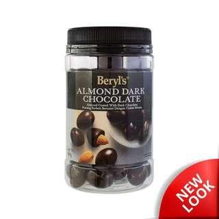 Beryl's Jar Almond Coated With Dark Chocolate