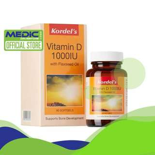 Kordel's Vitamin D 1000IU + Flaxseed Oil 90's