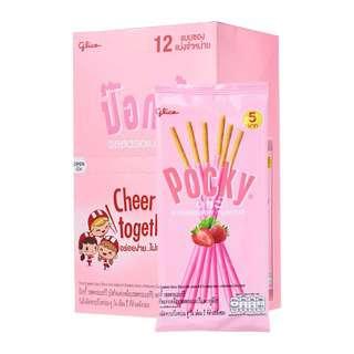 Glico Pocky Strawberry Biscuits Sticks 11g x 12 Packs