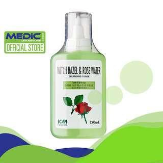 ICM Pharma Witch Hazel And Rose Water 120ML