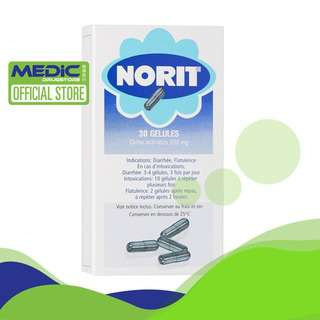 Norit Activated Carbon OTC Medicine 30s - By Medic Drugstore