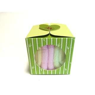 LoveSprings Bamboo fiber face towel - mixed colours (Giftset)
