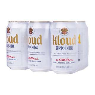 Lotte Chilsung Kloud Clear Zero Non-Alcoholic Beer
