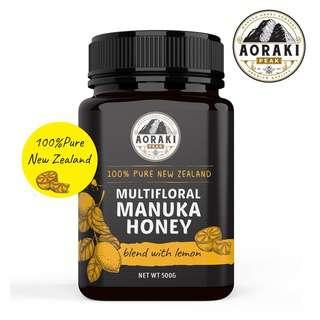 AorakiPeak Lemon Manuka Honey