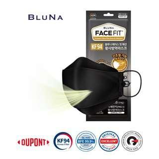 Bluna KF94 3D StyleFit Adult Face Masks - Black