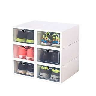SOLEMATE EZ Stackable Drop Lid Shoe Box (Pack of 6)