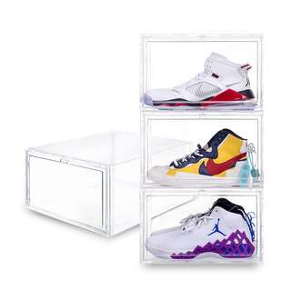 SOLEMATE Side Drop Lid High-Cut Shoe Box (Pack of 2)