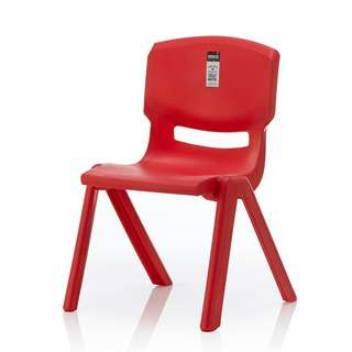 HOUZE Signature Kids Chair with Backrest - Red