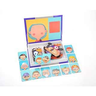 Kidmoro Magnetic Play Book, Fun Faces Theme