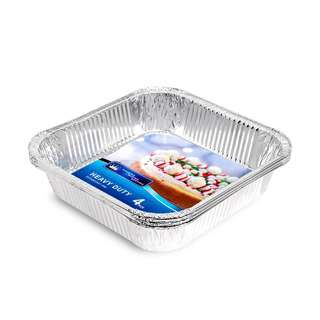 HOUZE Square Aluminium Foil Tray (Set of 4)