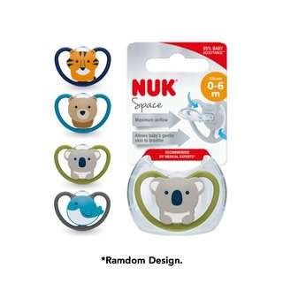 NUK Silicone Space Soother 0-6mths w/Case (Assorted Design)