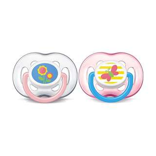 Philips Avent Free Flow Soothers 18M+ - Pink