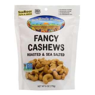 SunRidge Farms Fancy Whole Cashews Oil Roasted And Salted