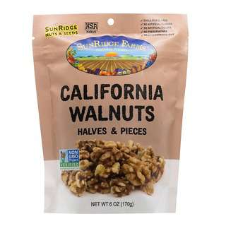 SunRidge Farms Walnuts Halves and Pieces Combo