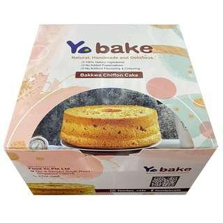YoBake Bakkwa Chiffon Cake (Frozen)