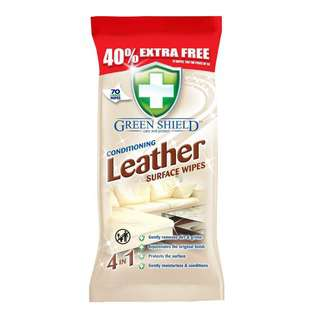Greenshield Conditioning Leather Surface Wipes 70's