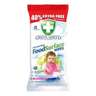 Greenshield Food Surface Wipes 70's
