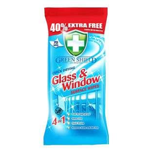Greenshield Glass & Window Surface Wipes 70's