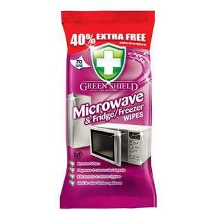 Greenshield Microwave & Fridge Freezer Wipes 70's