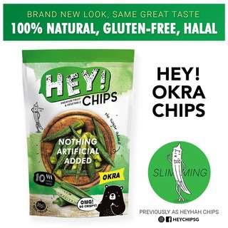 Hey! Chips - Okra (aka HeyHah, 100% Natural, Gluten-Free)