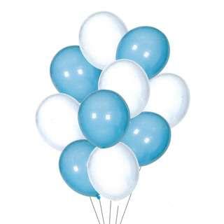 HOUZE Blue & White Balloons (Set of 10)
