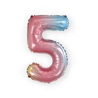 HOUZE 16 (inch) Number Balloon - 5 Lollipop