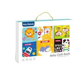 Shears Baby Cloth Book 6 IN 1 Cloth Book with Teether SBYB726