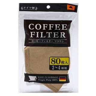 Nomi Japan Coffee Filter 80 Pieces ( brown)