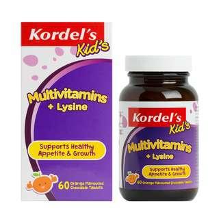 KORDEL'S KID'S MULTIVITAMINS + LYSINE 60S