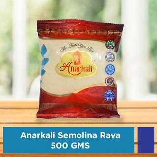 Anarkali Indian Roasted Semolina (Sooji / Rava) 500G