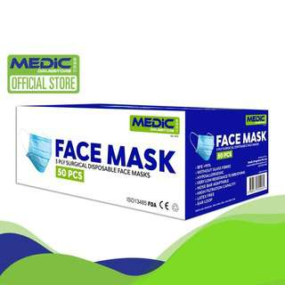 Medic Drugstore Disposable 3-Ply Surgical Face Mask 50pcs