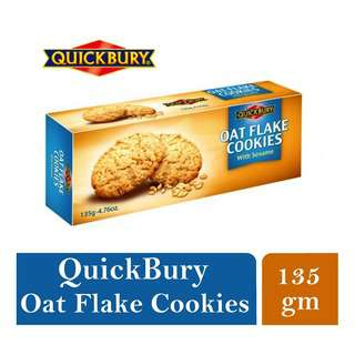Quickbury Sugar Free Oat Flakes Cookies With Seasame