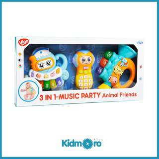 Vigo 3-in-1 Music Party Baby Sensory Toy